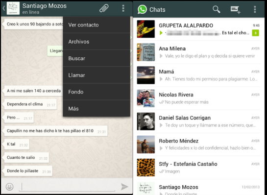 WhatsApp Holo chat